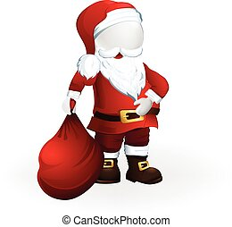 Happy Christmas Santa Claus 3D vector design