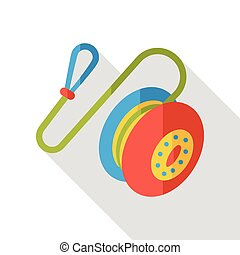 toy yoyo flat icon