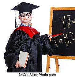 Little girl in academic hat - Littlegirl in academic hat...