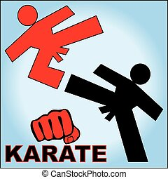 karate logo poster - Martial arts karate, taekwondo,...