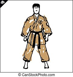 karate fighter poster