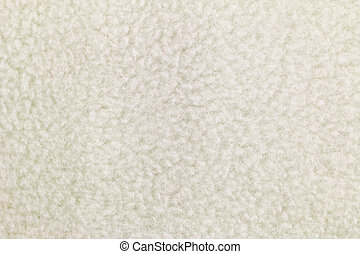 texture of Off white fleece textile - Closeup background...