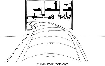 Outlined Portal for Baggage Claim