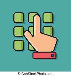 ATM button vector icon