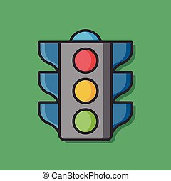 traffic light vector icon