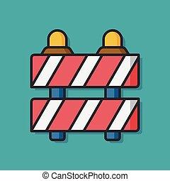 Roadblocks barrier vector icon