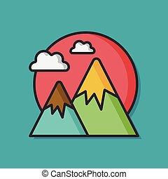 outdoor mountain vector icon