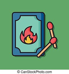 fire match vector icon