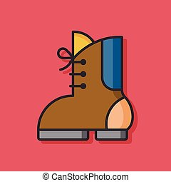 camp boot vector icon