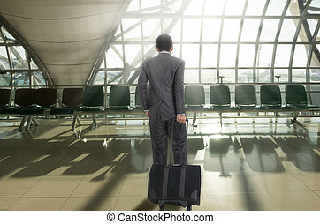Man in terminal airport
