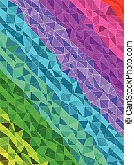 Colorful stripe in triangles pattern with line texture