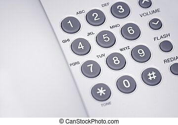 Telephone - Close up photo of a white telephone , nice...