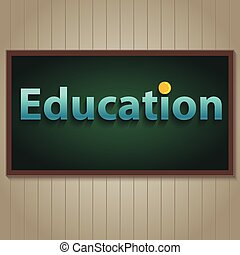 Education on blackboard