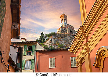 cityscape of Brisighella, Emilia Romagna, Italy - view of...