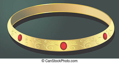 golden bangle  - Illustration of golden bangle
