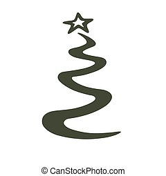 stylized Christmas tree - This is an illustrartion of a...