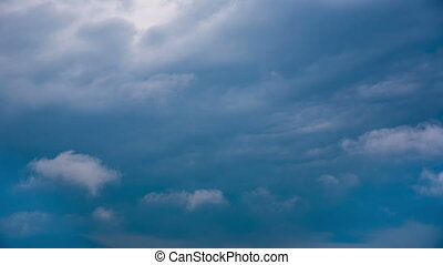 Blue Clouds Timelapse - Beautiful Timelapse of blue clouds