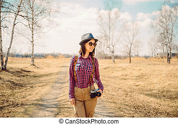 Hipster style woman