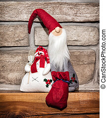 Santa Claus and snowman, Christmas decoration - Cute Santa...
