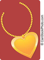 golden necklace with locket