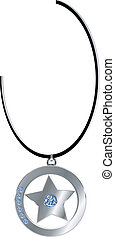 necklace with star shape locket