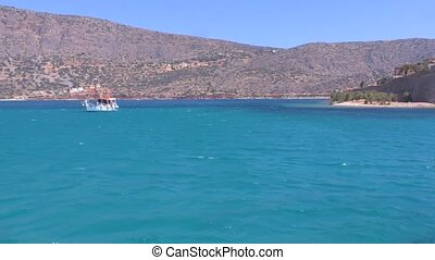 Spinalonga Venetian Fortress Crete - Moving Camera around...