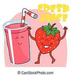 natural strawberry juice