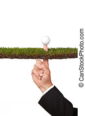challenge - conceptual business image of taking a risk or...