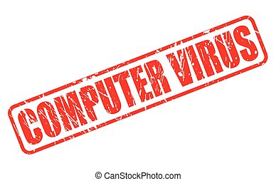 COMPUTER VIRUS red stamp text on white
