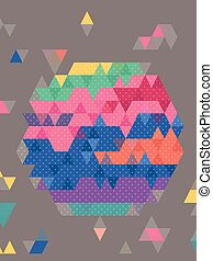 Colorful hexagon graphic