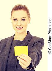 從事工商業的女性, 卡片, 藏品, 空白