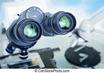 Laboratory Microscope Scientific and healthcare research -...