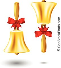 Golden school handbell - back to school