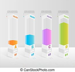 Infographic vector illustration for graphic design -...