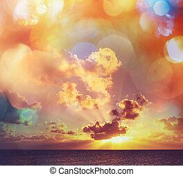 Sunset background - Sunset scene