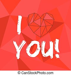 I love you red valentines card