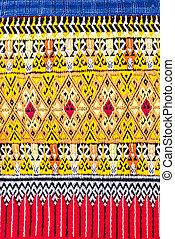 Sarong Teenjok - Closeup traditional thai sarong pattern...