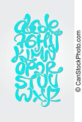 Alphabetic composition graffiti style Vector illustration...