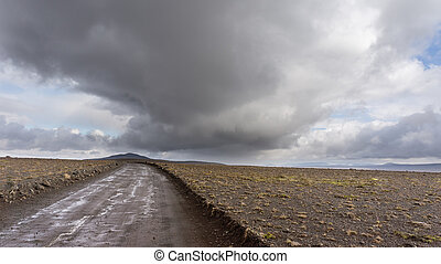 Kjolur Highland Route - The road begins in the south of...