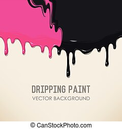 Dripping paint background