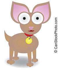 Chihuahua standing isolated Vector - Chihuahua illustration