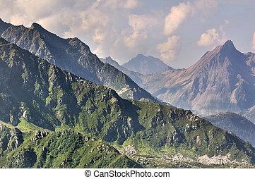 mountain peaks in Savoie - beautiful mountain landscape in...