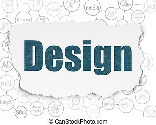 Marketing concept: Design on Torn Paper background