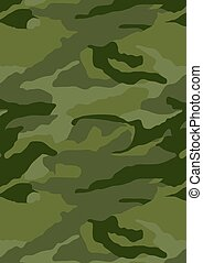 Khaki forest camouflage repeat pattern background .