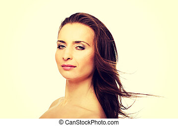 Beautiful adult woman with gorgeous hair. - Beautiful...