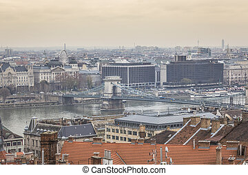 Panorama of Budapest - the capital of Hungary