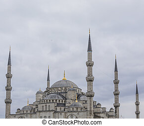 ISTANBUL, TURKEY - DECEMBER 13, 2015: The Blue Mosque,...