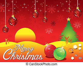 abstract artistic detailed christmas background