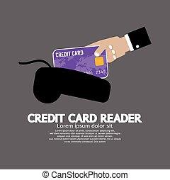 Credit Card Reader - Credit Card Reader Vector Illustration...