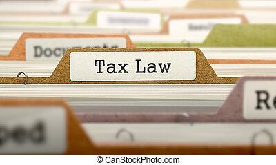 Tax Law - Folder Name in Directory - Tax Law - Folder...